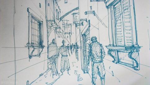 Florence Streets sketch #da vinci