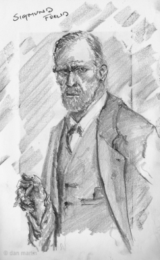 Sketch of Sigmund Freud