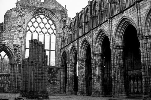 The abbey was built in 1128 by King David I. It fell into ruin in the 18th Century