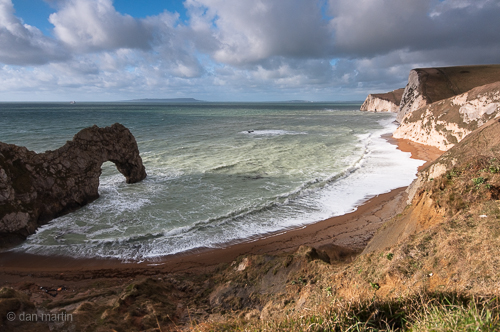 Durdle Door, a natural forming limestone arch