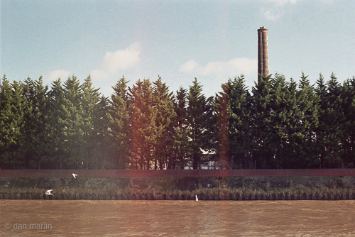 The River Flows -----> The Chimney Stands