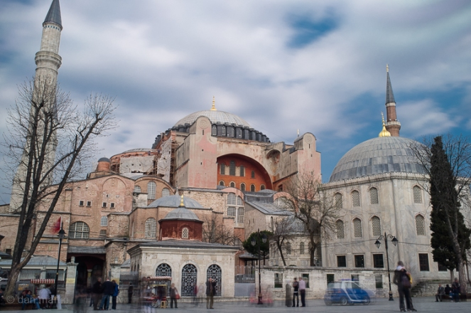 Exterior of the Hagia Sophia, a Byzantine church dating from 537