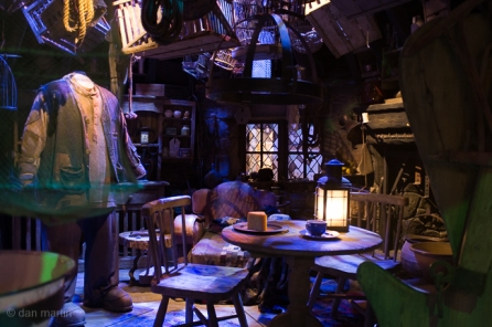 Hagrid's Hut. Wonderful dressing, so cluttered and 'full'