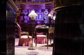 Delore Umbridge's office. Fantastic. Love the boldness of the set.