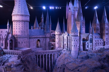 Model of Hogwarts Castle. Lovely to see a physical model instead of just CGI. This is just porn.