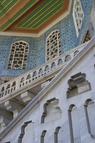 Detail of steps up to Revan Kiosk