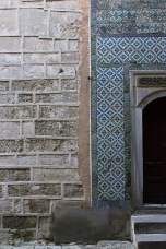 Wall and tile detailing inside the Harem The (Courtyard of the Eunuchs)