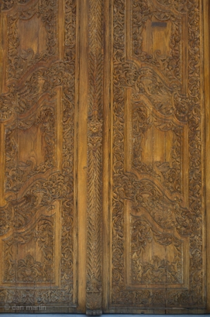 Doors to Chania Cathedral Carving Wonder
