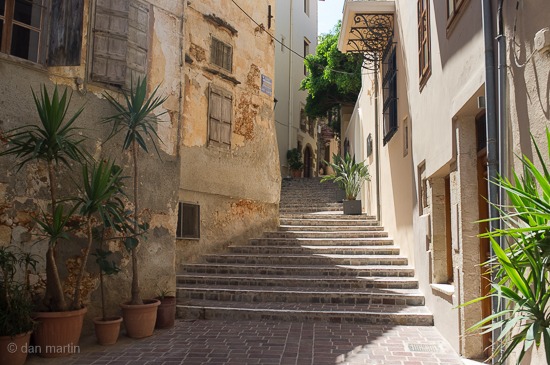 Steps and alleyways