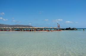 Beautiful lagoons at Elafonisi Beach