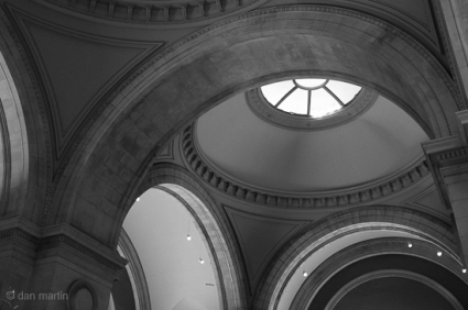 Domed and arched entrance ceiling of the Met