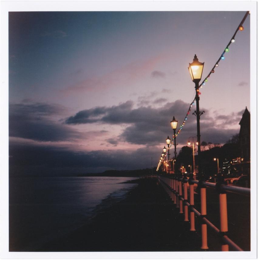 Streetlamps along the promenade Yashica Mat 124-g