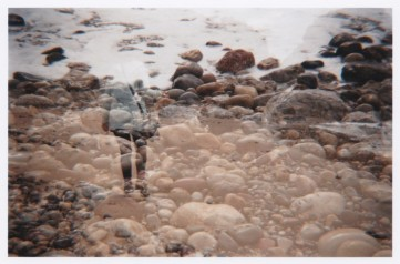 Beach. Ebb and Flow. Double Exposure