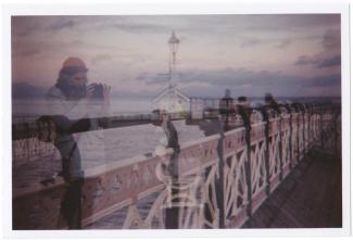 Penarth Pier double Exposure