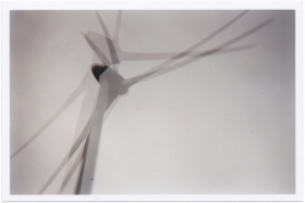 Double exposure of a wind turbine