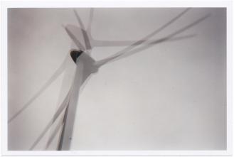 Double exposure of a wind turbine
