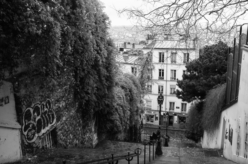 The steps of Montmartre, Paris.