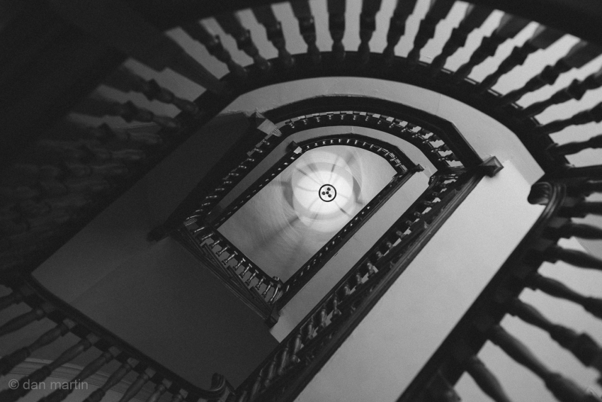 Can't really fault spiral staircases, they're pretty cool.