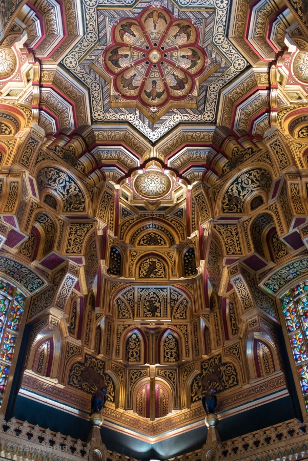 Amazing ceiling in the Arab Room, Cardiff Castle.