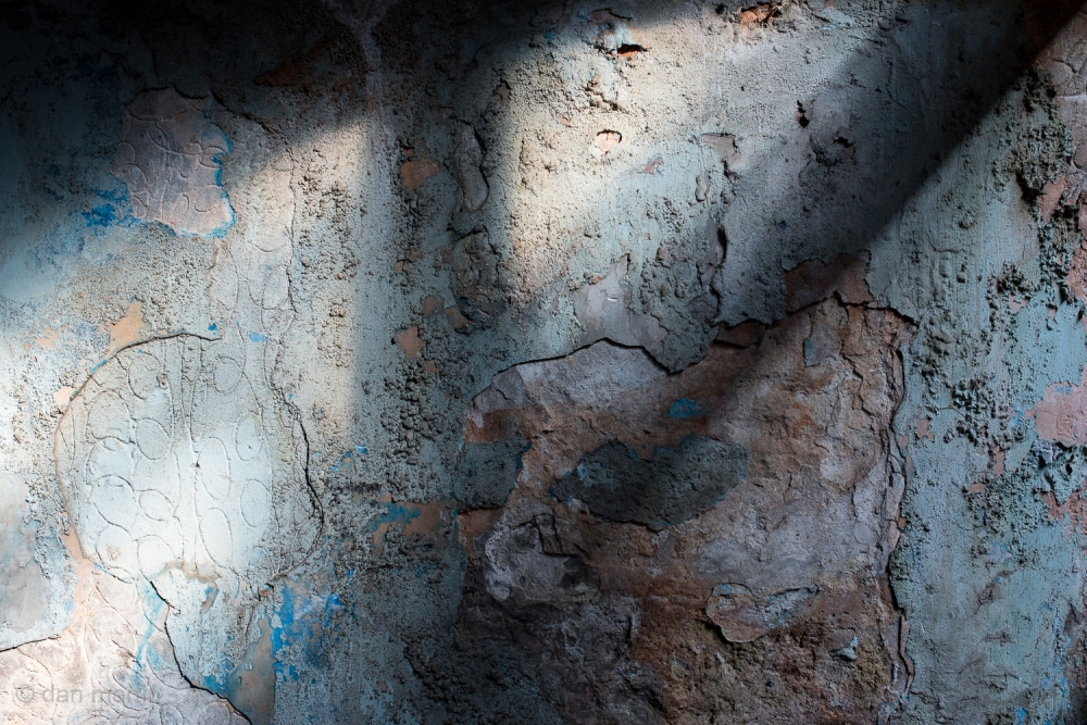 Wall of texture and light. St. Catherine's Fort, Tenby