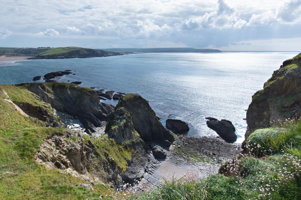 Along the coastline of Devon