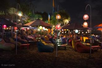 Bali beach nightlife