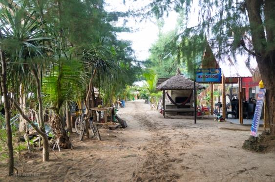 Sandy paths and beach bars