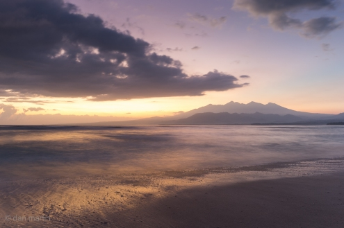 Long exposure sunrise over Lombok