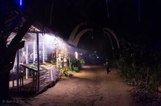 Night time beach bars