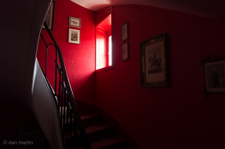 Red.. what an amazing colour! Inside Château de Voisins, France.
