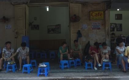 Locals in a cafe.