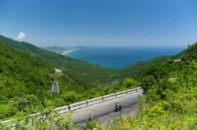 Eastern part of the Bach Ma National Park with fantastic winding roads and beautiful scenery