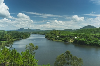 Overlooking the Perfume River Vietnam