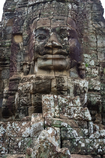 The famous faces of Bayon.