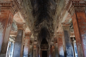 Inside the vertical stone city of Angkor Wat