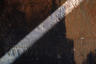 Great light illuminating the intricate carved detail.