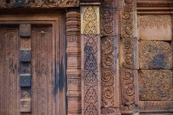 Some of the incredible carved details from Banteay Srei, or the Lady Temple.