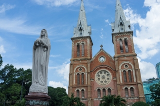 Ho Chi Minh City Notre Dame Cathedral. A bit different to the 'other one' ..