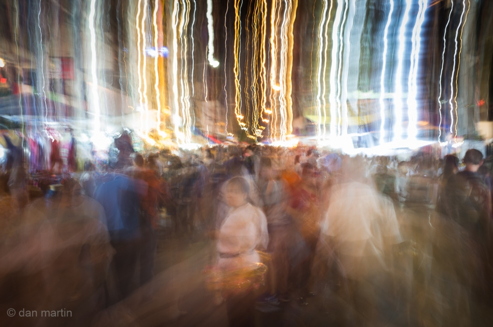 I feel this 'captures' the manic-ness of the market street; very busy, amazing!