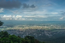 The classic view from Wat Phra That Doi Suthep. Was a nice windy road to reach the top, so it was worth going for that as well.