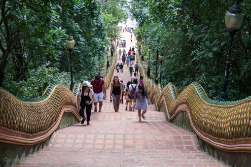 Steps up to Wat Phra That Doi Suthep.