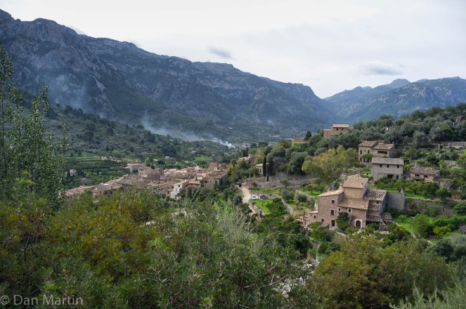 Winding roads overlooking the tranquil town of Fornatlutz