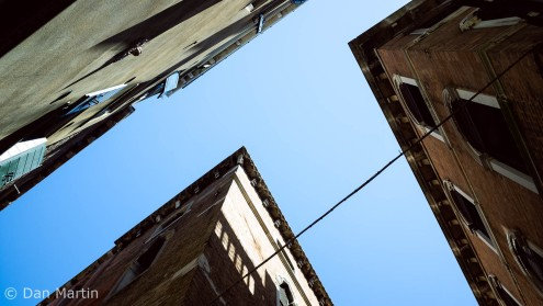 Looking up amidst the alleys