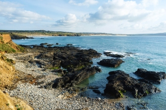 From Godrevy Beach towards St. Ives Bay.