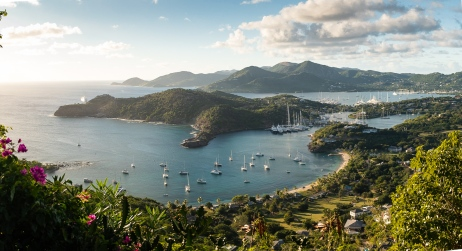 View from Shirley Heights overlooking English Harbour. #classiccaribbean